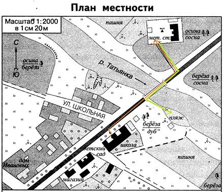 план местности Ивановых
