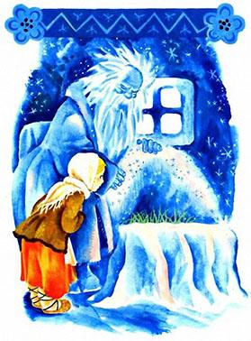 В госях у дедушки Мороза